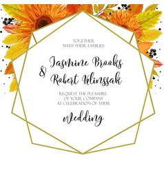 wedding invitation invite card design with orange vector image