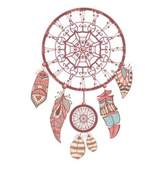 Romantic dream catcher vector image