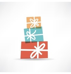 Holiday gifts icon vector