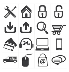 icon e commerce and shopping vector image