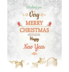 Christmas greetings card template eps 10 vector