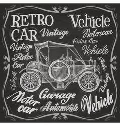 Retro car logo design template vehicle vector