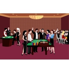 People in casino vector