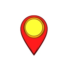 Map pointer icon in cartoon style vector