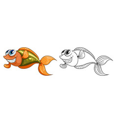 Animal outline for small fish vector