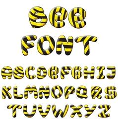 Bee alphabet vector