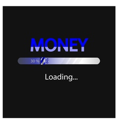 Business and money loading background vector