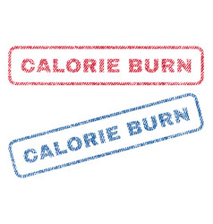 calorie burn textile stamps vector image