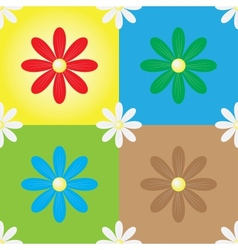 daisy seamless background vector image vector image