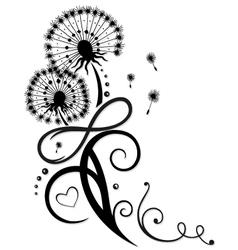 Dandelion with infinity vector image vector image