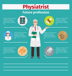 Future profession physiatrist infographic vector