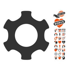 Gear icon with lovely bonus vector