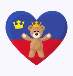 Liechtenstein Royal Teddy Bear vector image vector image