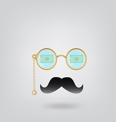 Man with glasses vector