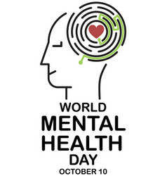 mental health day vector image vector image