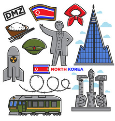 north korea travel famous landmarks culture vector image vector image