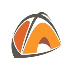 Orange cartoon tent vector image vector image
