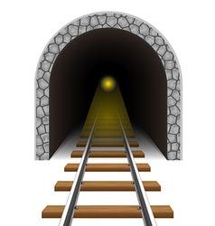 railway tunnel 04 vector image