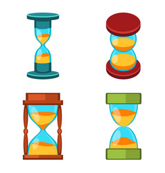 Sand clocks isolated vector