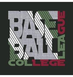 T-shirt baseball design vector