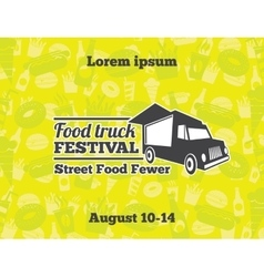 Urban street food for poster vector image vector image