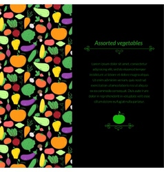 Vegetables background vector image