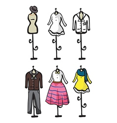 Display of various garments vector