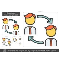 Knowledge managment line icon vector