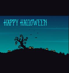 Happy halloween background at night vector