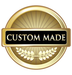 Custom made gold label vector