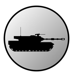 Tank button vector