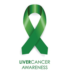 Liver awareness cancer ribbon vector