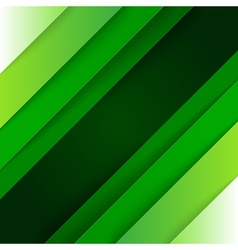 Abstract green paper triangle shapes background vector image