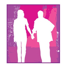 Couple silhouette vector