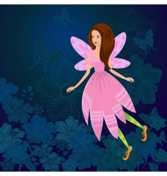 fairy firefly vector image