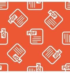 Orange PDF file pattern vector image