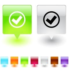 Mark square button vector image