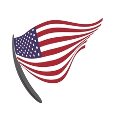 Pennant and flag icon usa design graphic vector