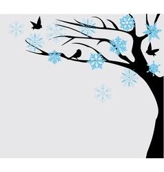 Bird tree vector