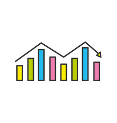 business statistic graph to company information vector image vector image