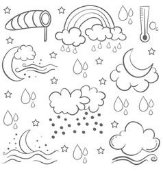 Doodle of weather set art vector