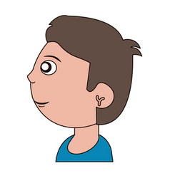 Drawing head boy child vector