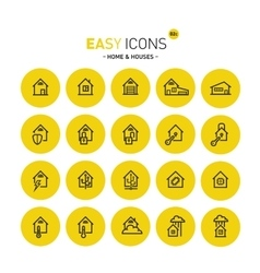 Easy icons 02 home vector