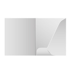 Folder template design for company element of vector