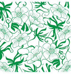 Green flower background vector