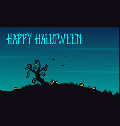 Happy halloween background at night vector