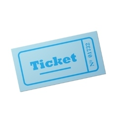 Image of ticket vector image vector image