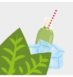 juice design glass icon drink concept vector image