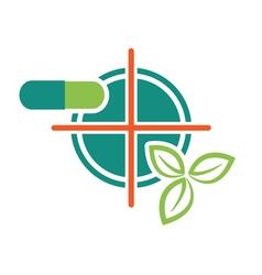 Leaf pils target icon vector