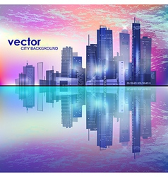Modern cityscape concept background vector image